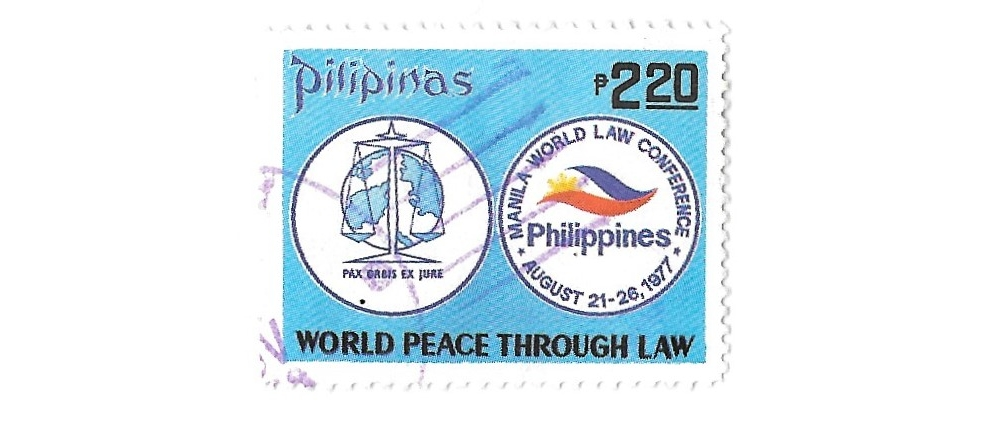 philippines postage stamp, 1977,world law conference,sg1434,used,#1655d