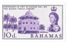 bahamas postage stamp,1962, sg222 hinged mint