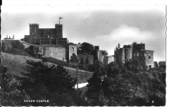 postcard - real photograph - dover castle, kent posted c1956 # 1484