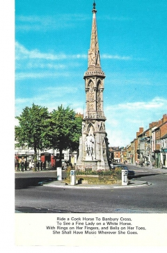postcard - banbury cross, oxfordshire  unposted c 1970s unposted #1487