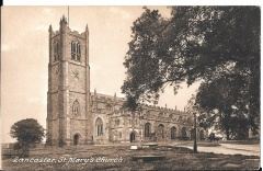 postcard - lancaster st mary's church, lancashire,england unposted c 1930s #1499
