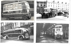 buses - four photographs of vintage buses - two from llandudno 2878