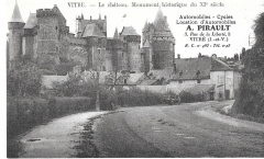 vitre - the chateau - xi century france- unused postcard # 3019