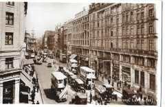 postcard,london,england,the strand,posted 1936,busy scene,#3103