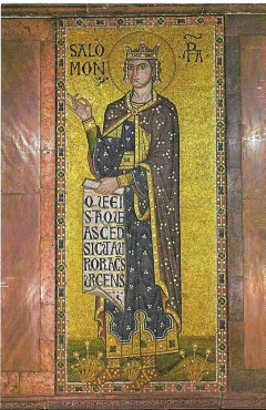 postcard - mosaic of king solomon-basilica s marco, venice posted 2002 #9008