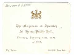 at home invitation by the mayoress of ipswich january 23rd 1906