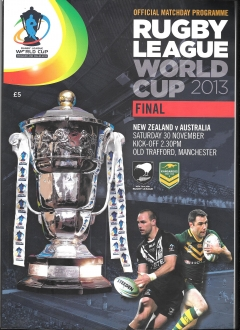 programme- rugby league world cup final - manchester- new zealand v australia 2013 #917