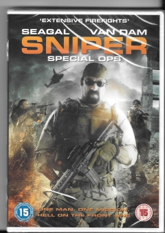 dvd -  sniper special ops-new and sealed- seagal :van dam